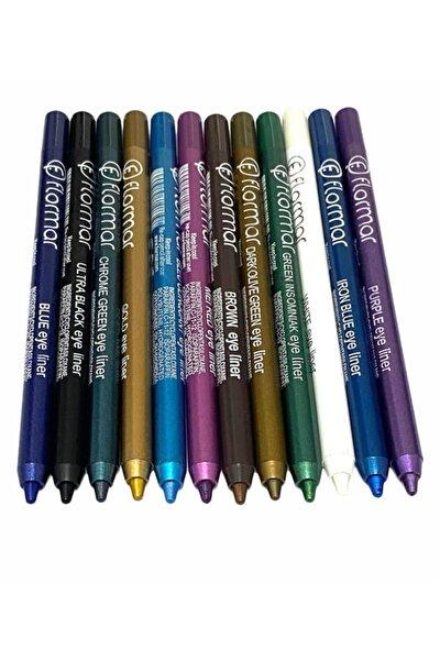 Kozmetik Renkli Göz Kalemleri 12adet