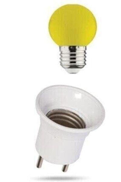 Duy Fişli + 15w E-27 Duylu Renkli Gece Lambası Ampulu Sarıı Işık