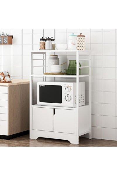 Raflı Mutfak Düzenleyici Mikrodalga Fırın Dolabı