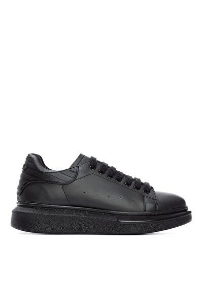 Erkek Siyah Vegan Sneaker Spor Ayakkabı