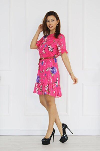 Kadın Çiçek Baskılı Elbise