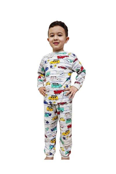 Erkek Çocuk Gri Arabalı Pijama Takım