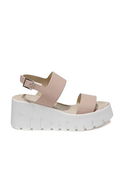 21S-0691FX Pudra Kadın Dolgu Topuklu Sandalet 101014301