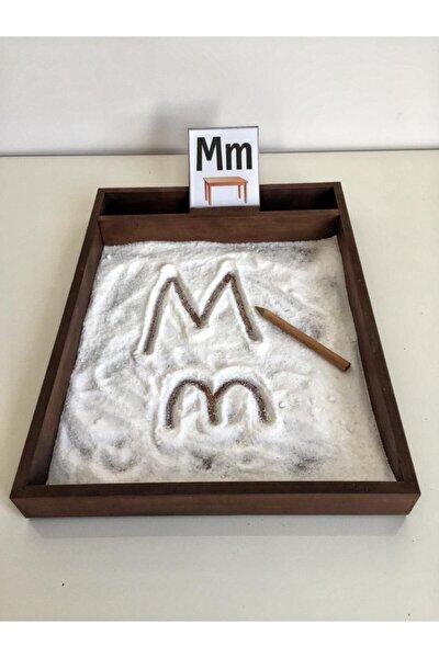 Montessori Öğrenme Tepsisi-kum Tepsisi-