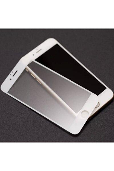 Iphone 8 Plus Mat Kırılmaz Cam Nano Parmak Izi Bırakmaz Beyaz