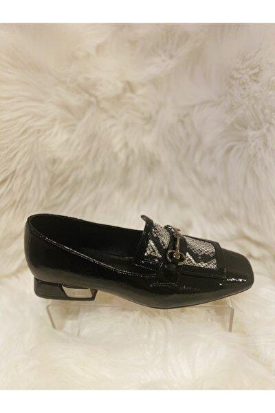 Rugan Yılan Küt Burun Klasik Ayakkabı