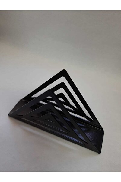 Siyah Üçgen Metal Peçetelik