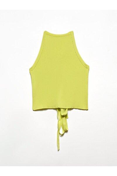 Kadın Sarı Arkası Çapraz Askılı