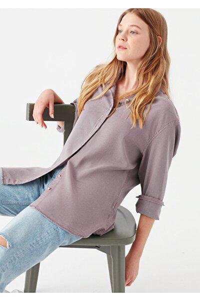 Lux Touch Mor Lyocell Gömlek 122823-33493