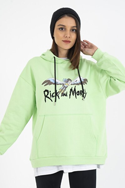 Rick And Morty Baskılı Sweatshirt