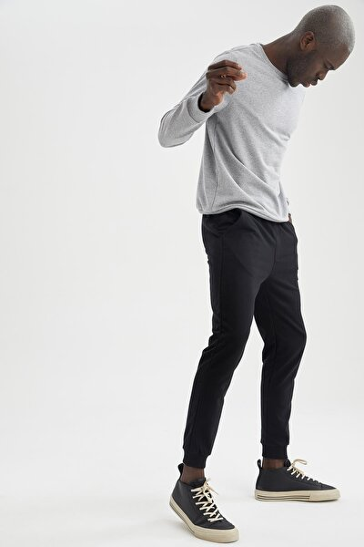Ribanalı Uzun Kollu Jogger Altlı Slim Fitpijamatakımı