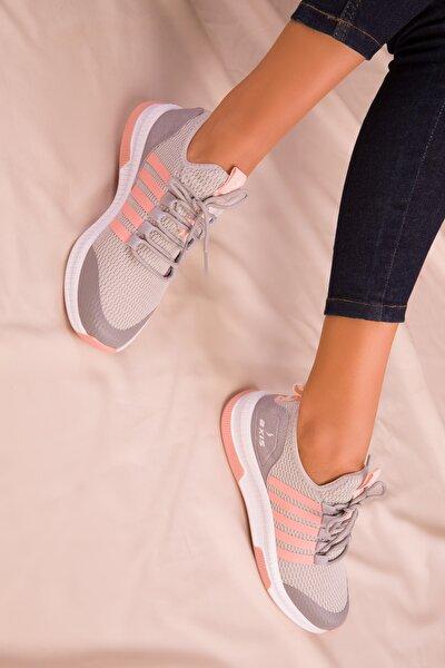 Buz-Pudra Kadın Sneaker 16019