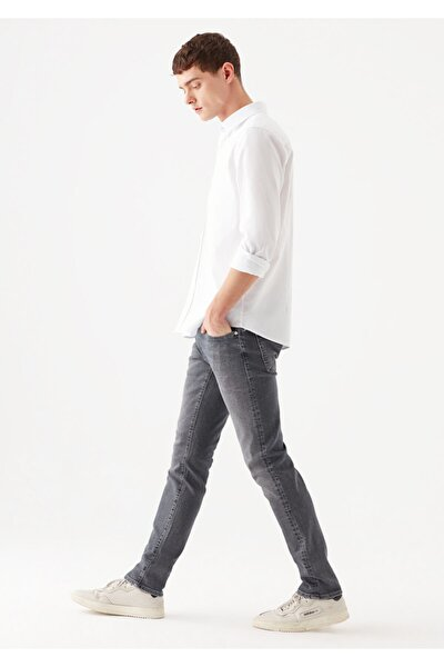 Erkek Jake Black Gri Jean Pantolon