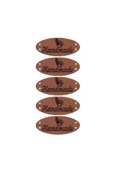 Deri Handmade Etiketi 5'li Model 12