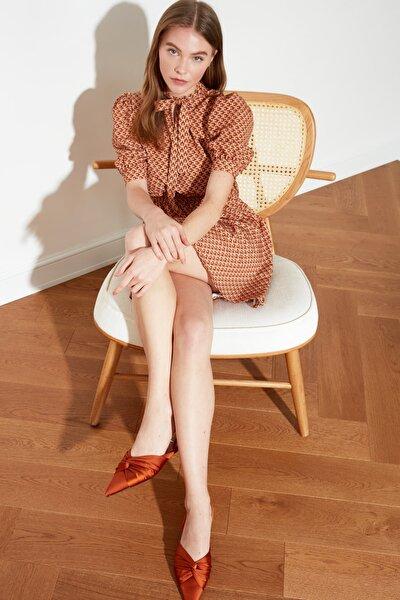 Hardal Desenli Fular Yaka Elbise TWOSS20EL0232