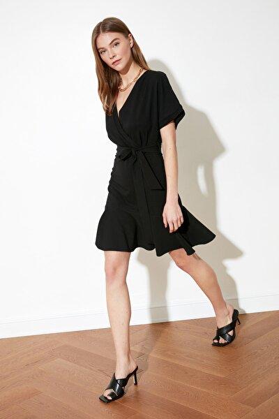 Siyah Kuşaklı Elbise TWOSS20EL0944