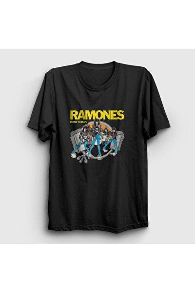 Unisex Siyah Road To Run Ramones T-shirt 170393tt