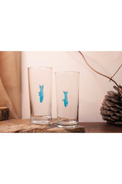 Mavi Balık 2'li Meşrubat Bardağı