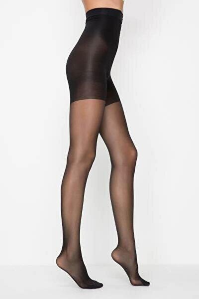 Siyah Body Form Külotlu Çorap Xl - 4