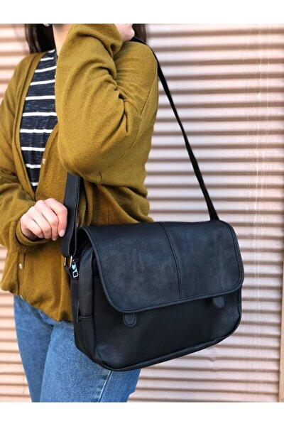 Kadın Siyah Postacı Çanta
