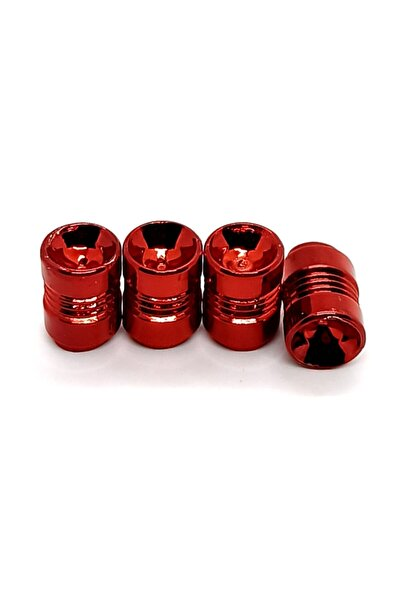 Universal Kırmızı Metal Görünümlü Sibop Kapağı