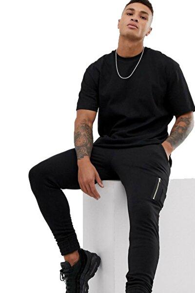Erkek Siyah Renk T-shirt