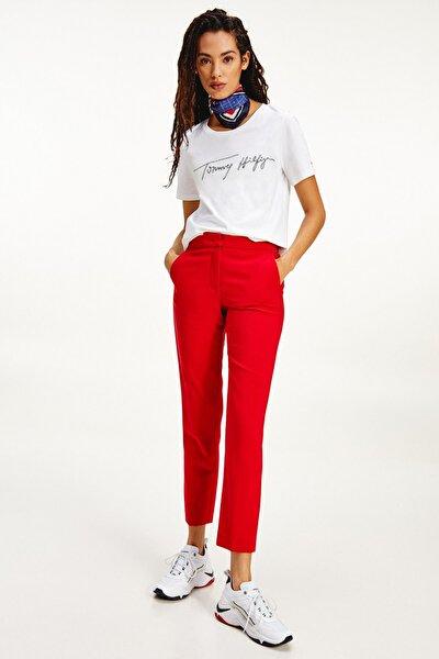 Kadın T-Shirt REGULAR SCRIPT OPEN-NK TEE SS WW0WW29523