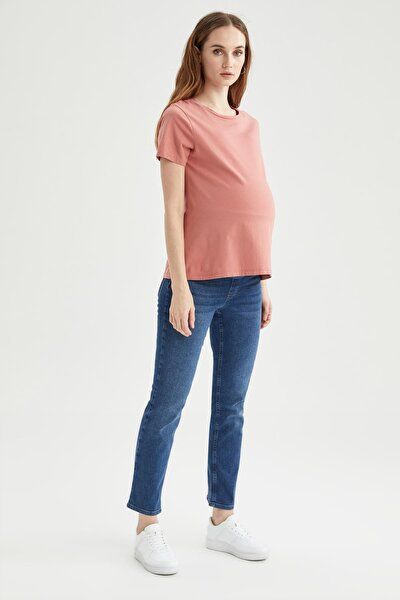 Kadın Hamile Straight Fit Jean Pantolon U0739AZ21SP