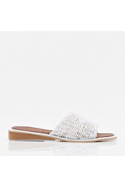 Beyaz Yaya Kadın Sandalet & Terlik