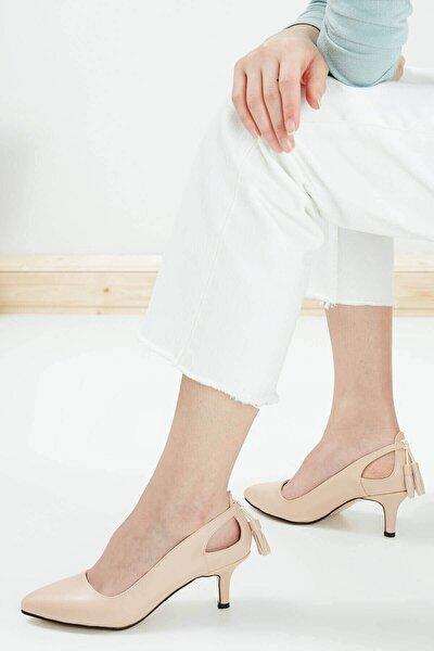 Ten Rengi Kadın Topuklu Ayakkabı 009037NU