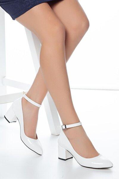 Beyaz Kadın Klasik Topuklu Ayakkabı DPRGZHWY704