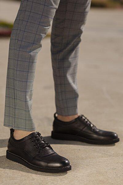 Erkek Siyah Ortopedik Ayakkabı D0800