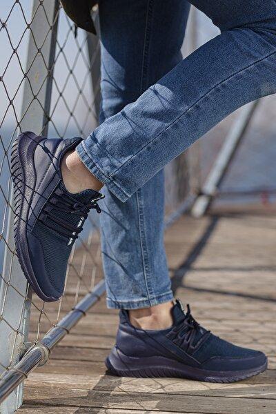 Erkek Lacivert Günlük Ortopedik Sneaker D2108