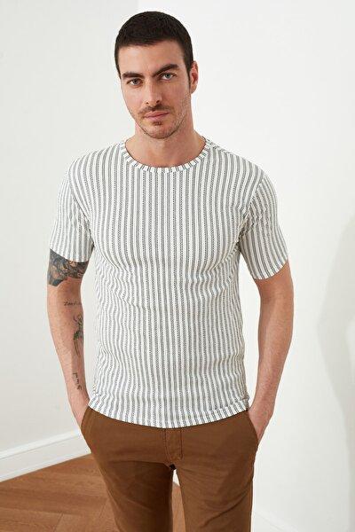 Beyaz Erkek Slim Fit T-Shirt TMNSS20TS0516