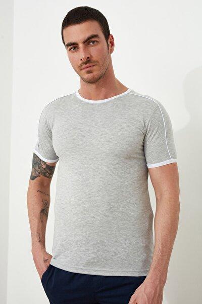 Gri Erkek Basic Slim Fit T-Shirt TMNSS20TS0861