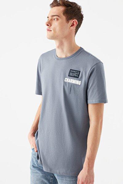 Erkek Charming Baskılı Mavi Tişört 066898-33511