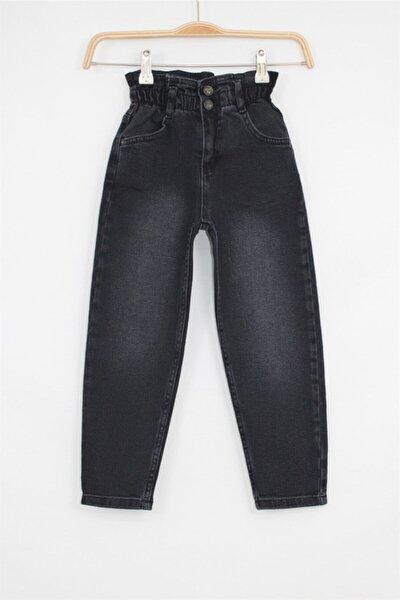 Kız Çocuk Siyah Mom Jean Pantolon