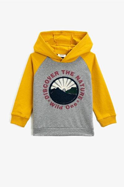 Gri Erkek Çocuk Sweatshirt