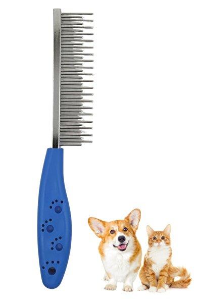 Tüy Açıcı Kedi Köpek Tarağı Tek Taraflı Metal Dişli Evcil Hayvan Bakım Fırçası