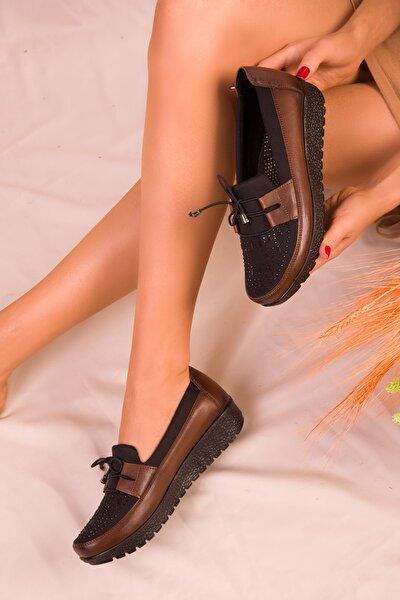 Taba-Siyah Kadın Casual Ayakkabı 15429
