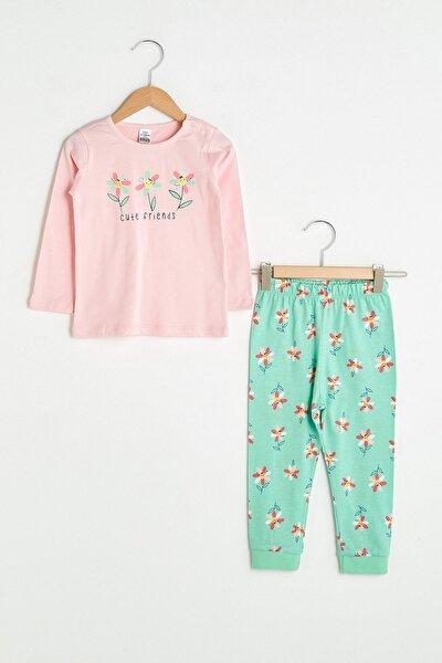 Kız Bebek Pembe Fvb Pijama Takımı