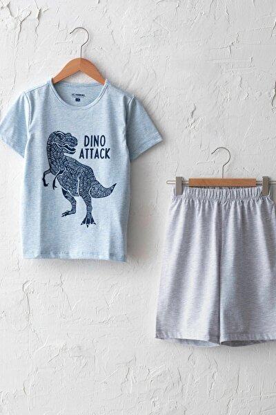 Erkek Çocuk Mavi Melanj Dsw Pijama Takımı