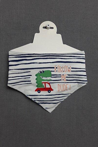 Çocuk Araba Desenli Fular Önlük