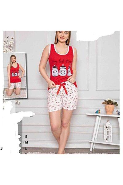 Pamuklu Süprem Askılı Şortlu Pijama Takımı