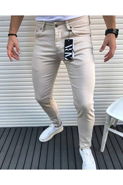 Erkek Bej Cx Fashion Slimfit Dar Kesim Kot Pantolon