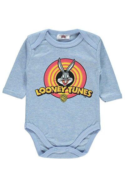 Erkek Bebek Mavi Bugs Bunny Çıtçıtlı Badi