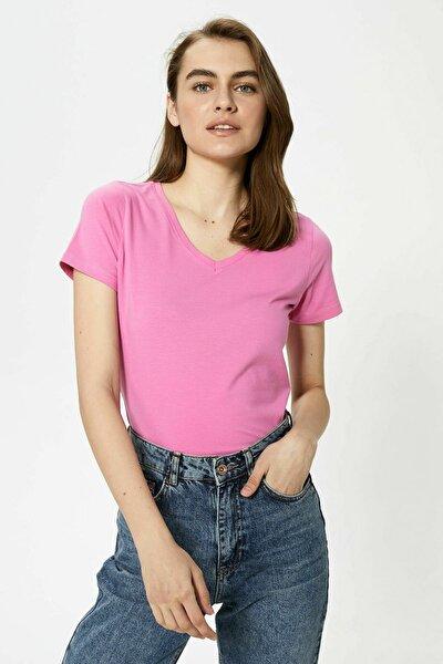 Kadın Pembe Leylak T-Shirt