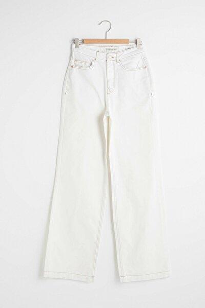 Kadın Kırık Beyaz Jeans