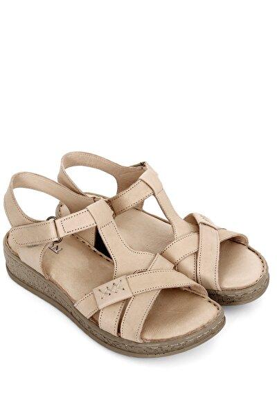 Gönderi® Hakiki Deri Dolgu Taban Sandalet 45711