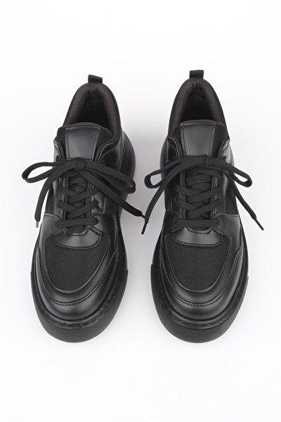 Kadın Siyah Sneaker Ayakkabı Levido